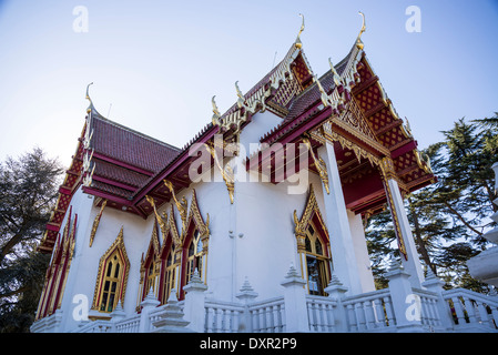 Wat Buddhapadipa Thai Buddhist temple, Wimbledon, London, UK - Stock Photo