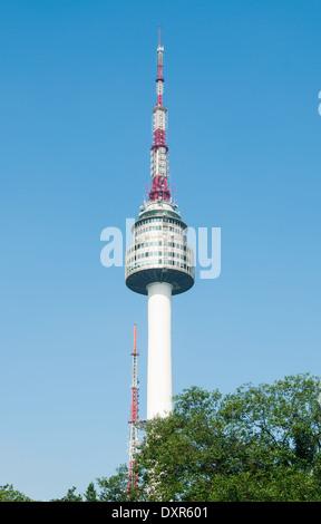 Namsan Tower in Seoul, South Korea. - Stock Photo