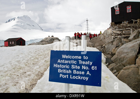 Penguin Post Office, Port Lockroy, near the Antarctic Peninsula, a frequent stop for Antarctica tourists on tourism - Stock Photo