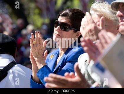 Luci Johnson, daughter of former Pres. Lyndon Johnson, at dedication ceremony for the Texas Capitol Vietnam Veterans - Stock Photo