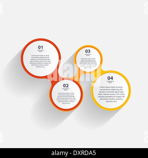 Infographic business template vector illustration - Stock Photo