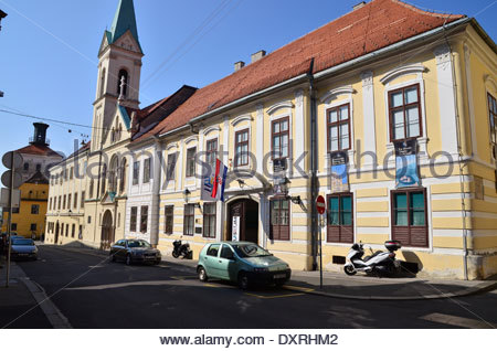 Croatian Museum of Naive Art, upper town(Gradec), Zagreb, Croatia - Stock Photo