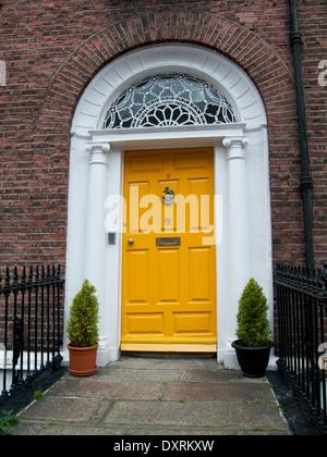 an old georgian door in Dublin - Stock Photo