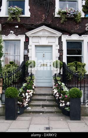 Front door of a house in Dublin, Ireland - Stock Photo