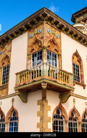 Ca' d'Zan Mansion, Ringling Museum, Sarasota - Stock Photo