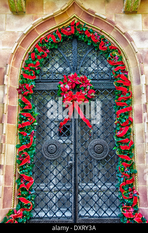 Christmas Decorations, Ca' d'Zan Mansion, Ringling Museum, Sarasota, Florida - Stock Photo