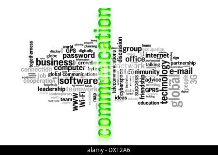 communication concept image word cloud - Stock Photo