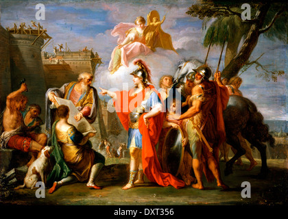 Alexander the Great Founding Alexandria - Stock Photo