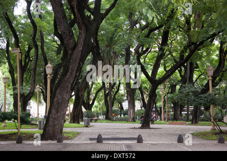 San Martin Plaza in the Retiro neighborhood of Buenos Aires. - Stock Photo