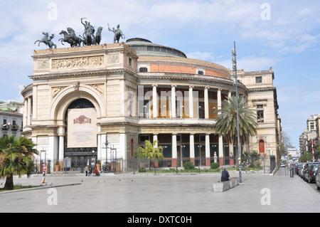 Teatro Politeama Garibaldi, Palermo, Sicily - Stock Photo