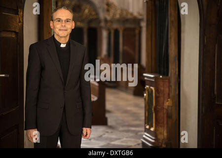 Bishop Franz-Peter Tebartz-van-Elst in the monastery Metten on 29 January 2014. - Stock Photo