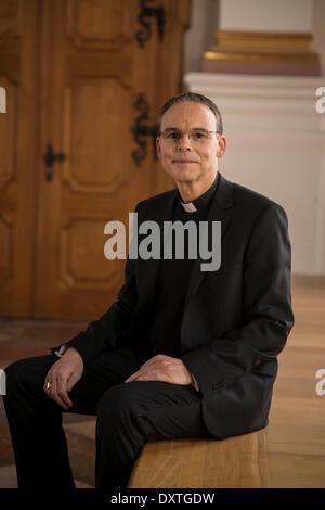 Bishop Franz-Peter Tebartz-van-Elst in the monastery Metten on 29 January 2014. - Stock Photo