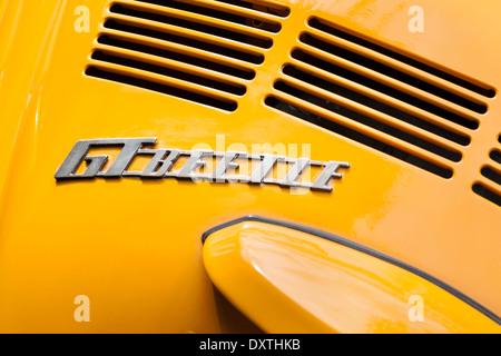 Volkswagen Beetle, classic GT Beetle badge. - Stock Photo