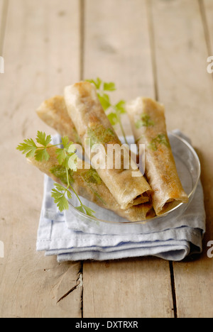 Beef and parsley cigars - Stock Photo