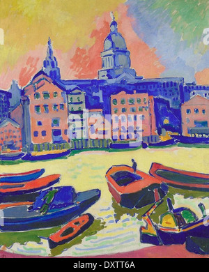 André Derain London - St. Paul's Cathedral Seen from the Thames - Stock Photo