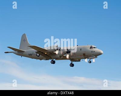 US Navy P-3C Orion Maritime Patrol Aircraft,   SCO 9027 - Stock Photo