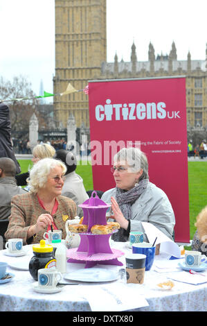 Parliament Square, London, UK. 31st March 2014.  Parliament Square at an event where, 'Today (Monday 31 March), - Stock Photo