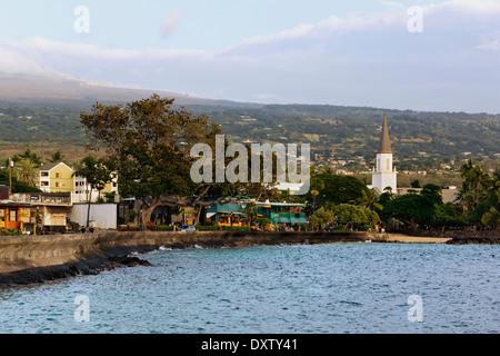Mokuaikaua Church; Kona, Island of Hawaii, Hawaii, United States of America - Stock Photo