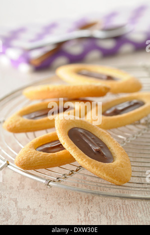 Boat-shaped biscuits - Stock Photo