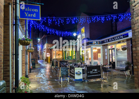 chesterfield town christmas lights at night derbyshire england stock photo royalty free image. Black Bedroom Furniture Sets. Home Design Ideas
