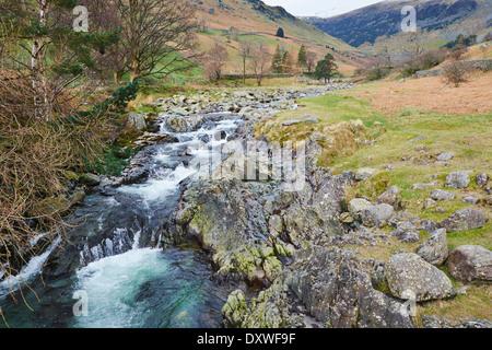 Glenridding Beck in Lake District National Park, Glenridding, Patterdale, Cumbria, England, UK, Britain - Stock Photo