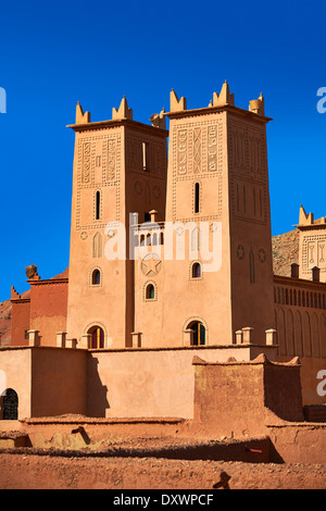Kasbah of Tamedaght in the Ounilla valley set in the foothills of Altas mountains, Morocco - Stock Photo