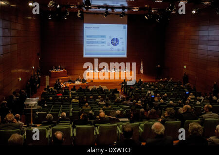 Turin, Italy. 31st Mar, 2014. in Turin, Italy, on March 31, 2014. This is one of the last meetings before the merge - Stock Photo