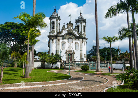 Church São Francisco de Assis, São João del Rei, Minas Gerais, Brazil Stock Photo