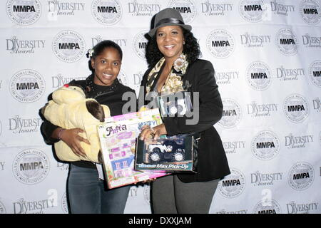 Kiera Washington April Weeden White 13th Annual Hollywood Holiday Celebrity Toy Drive Extravaganza held at H.O.M.E. - Stock Photo