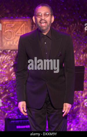 Maurice Hines at the press preview of upcoming concerts at '54 Below' night club. Featuring: Maurice Hines at the - Stock Photo