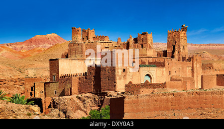 The Glaoui Kasbah's of Tamedaght in the Ounilla valley in the foothills of the Altas mountains, Tamedaght, Morroco - Stock Photo