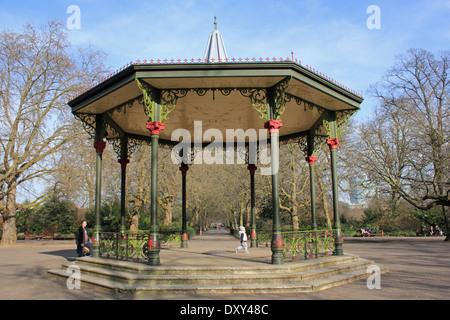 Bandstand in Battersea Park, London, SW11 4NJ, UK - Stock Photo