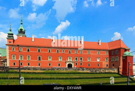 King castle in Warsaw old town - Stock Photo