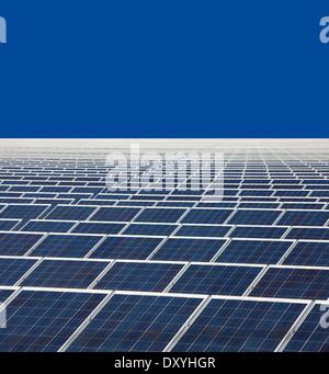 Open space solar photovoltaic plant, Troisdorf Solar, F+S, Troisdorf-Oberlar, Germany, Europe - Stock Photo