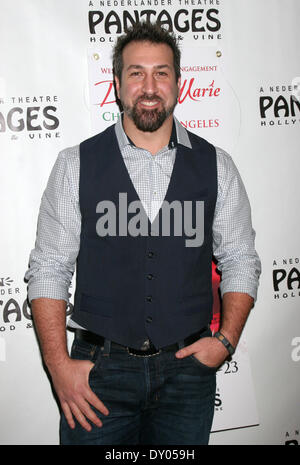 Donny & Marie Osmond's Christmas show at the Pantages Theater Featuring: Joey Fatone Where: Los Angeles California - Stock Photo