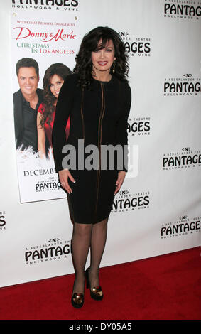 Donny & Marie Osmond's Christmas show at the Pantages Theater Featuring: Marie Osmond Where: Los Angeles California - Stock Photo