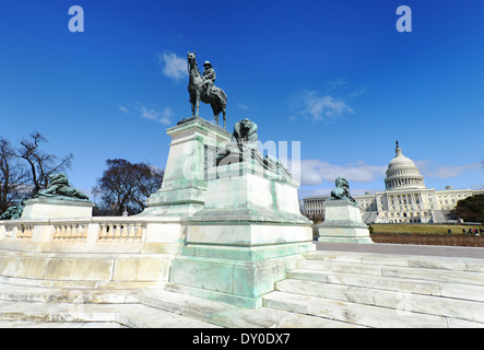 Grant Ulysses S, Memorial west of the U.S. Capitol in Washington, D.C. - Stock Photo