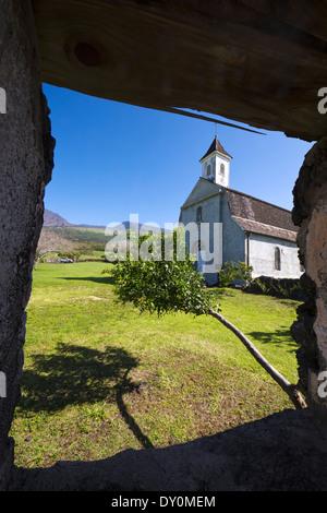St. Joseph's Catholic Church; Kaupo, Maui, Hawaii, United States of America - Stock Photo
