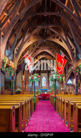 Old St Paul's church or cathedral, Wellington, New Zealand - Stock Photo