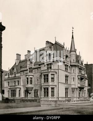 Home of William K. Vanderbilt, designed by Richard Morris Hunt, Fifth Avenue, New York City, 1886.  Photograph - Stock Photo