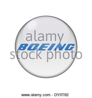 Boeing icon logo - Stock Photo