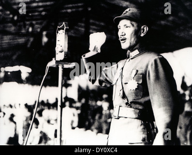CHIANG KAI-SHEK (1887-1975) Chinese military and political leader about  1943 - Stock Photo