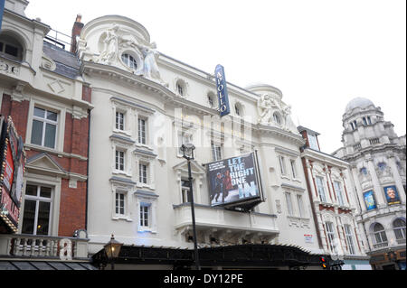 London, UK. 2nd April 2014. Apollo Theatre open for business after major  renovation following the ceiling collapse - Stock Photo