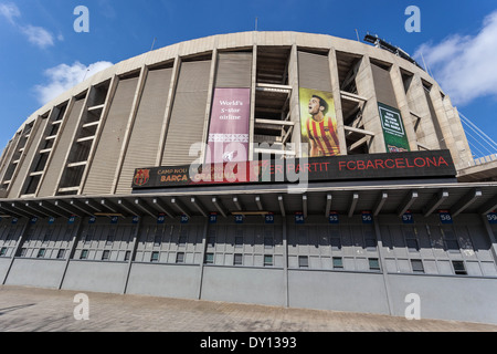 Barcelona FC Camp Nou football stadium, Barcelona, Spain. - Stock Photo