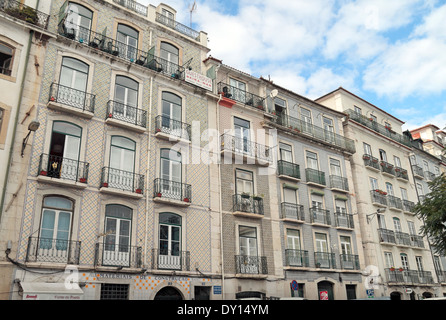 Typical buildings in the Alfama district of Lisbon, (Lisboa), Portugal. - Stock Photo