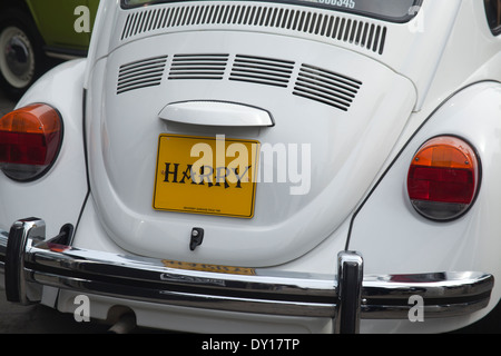 Volkswagen Beetle at Lincoln Camper Day 2014 - Stock Photo