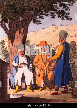 Tartar Noblemen, from Travels Through the Southern Provinces of the Russian Empire in the Years 1793 & 1794 - Stock Photo