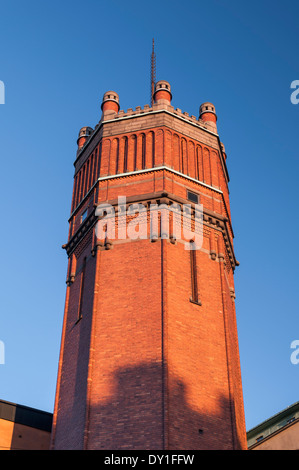 Mosebacke Torg water tower Sodermalm Stockholm Sweden - Stock Photo