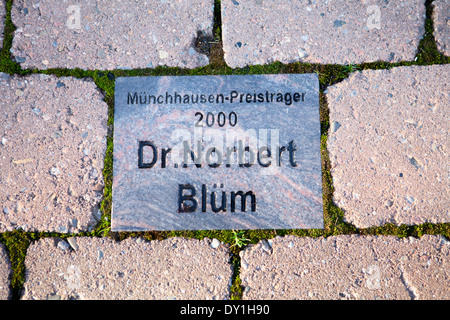 Baron Muenchhausen award 2000, Dr. Norbert Blüm, Bodenwerder, Weserbergland, Lower Saxony, Germany