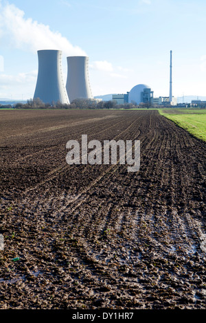 Grohnde Nuclear Power Plant, Emmerthal, Hameln, Lower Saxony, Germany, Europe - Stock Photo